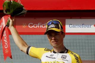 CICLISMO - El holandés Lindeman gana la 7ª etapa de la Vuelta y Chaves continúa líder