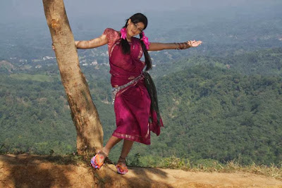 Bangladeshi Actress Mahiya Mahi on a Hill