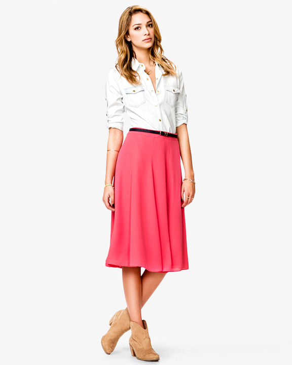 220 ber chic for cheap spied chiffon a line skirt