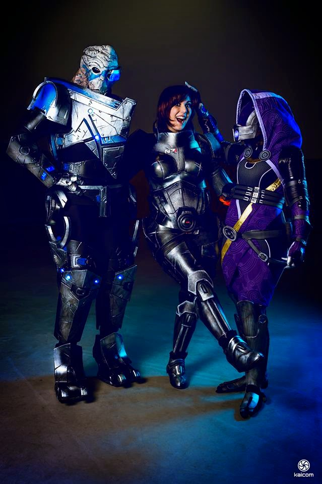 trio de cosplay de mass effect