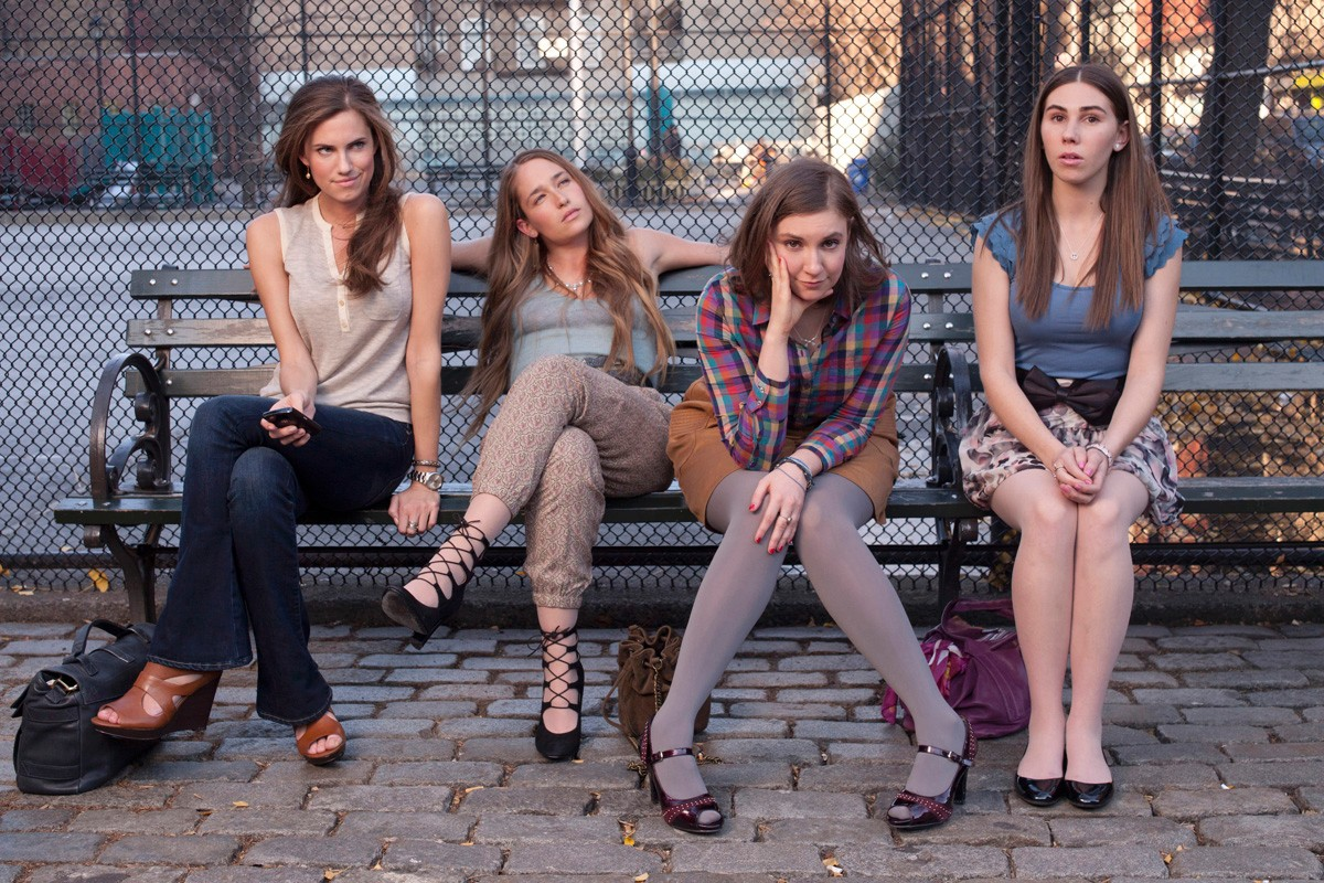 From left to right: marnie, jessa, hannah, and shoshanna