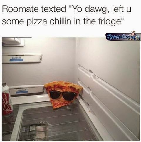 funny pizza fridge picture