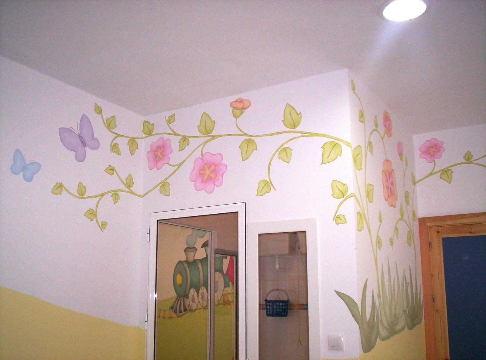 Murales infantiles pintados a mano 5 aula de ni os de 1 - Murales infantiles pintados a mano ...