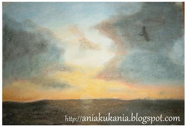 Zachody słońca - suche pastele