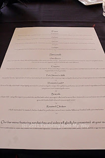 Sugo Bistro's Menu Back