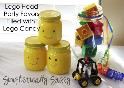 Lego Head Party Favors