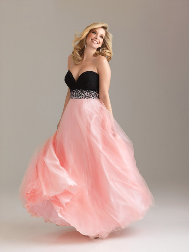 plus size pink and black wedding dresses gallery