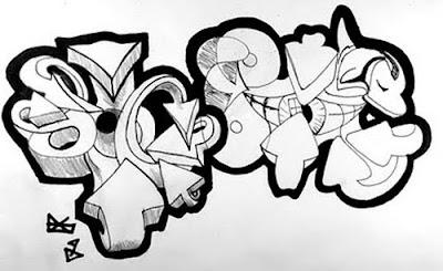 Draw graffiti, graffiti, graffiti drawing