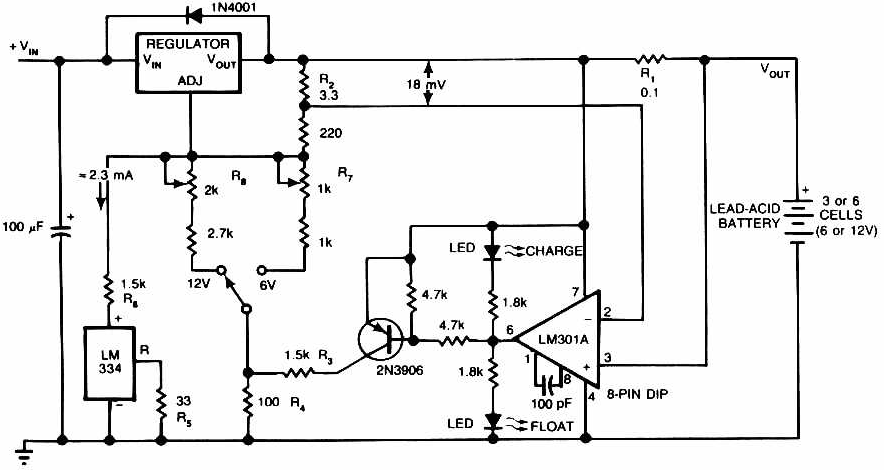 lead acid battery charger circuit basic electronics