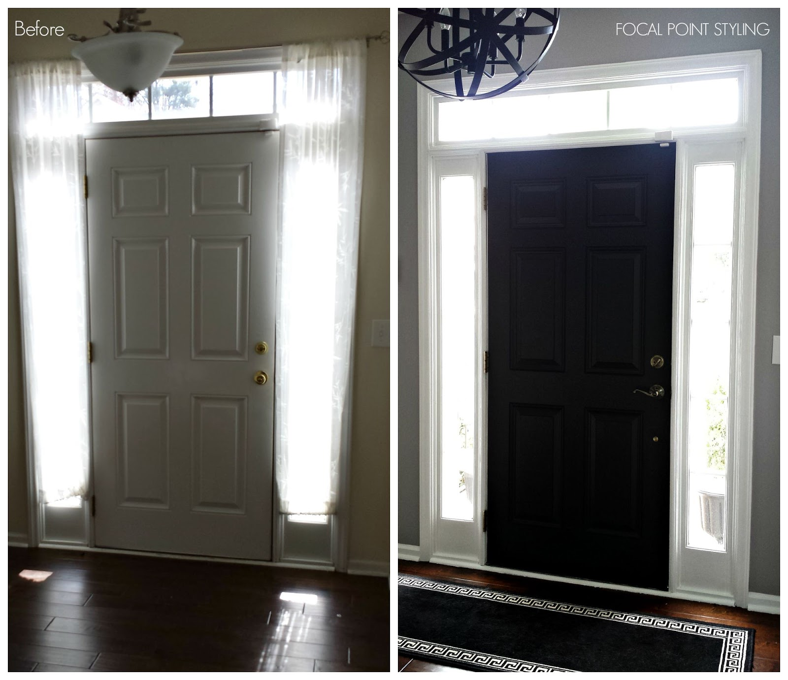 How To Paint Interior Doors Black & Update Brass Hardware