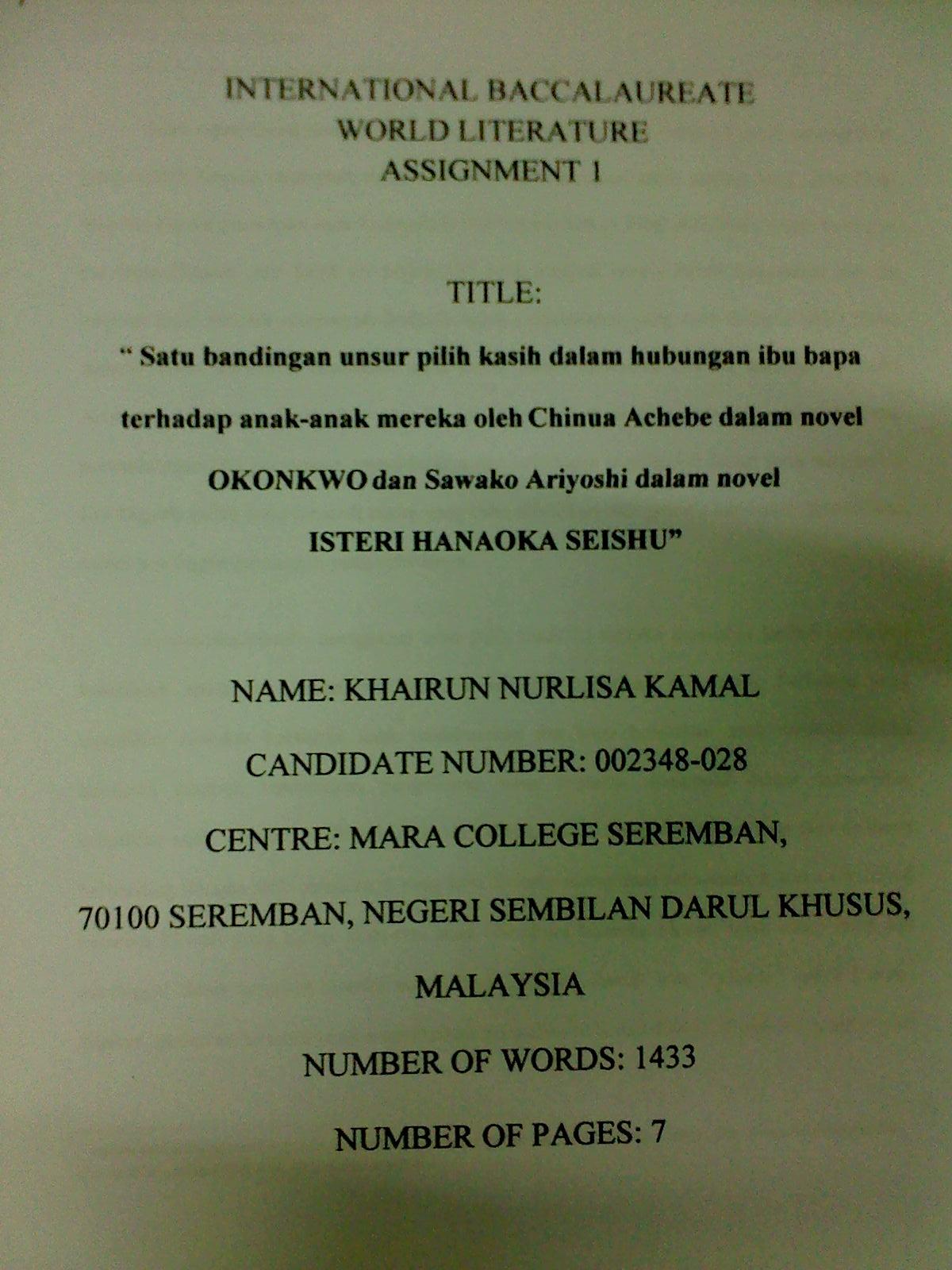 the tales of nurlisa kamal malay a sl world literature essay tak semua orang dapat remarks macam ni tau bangga