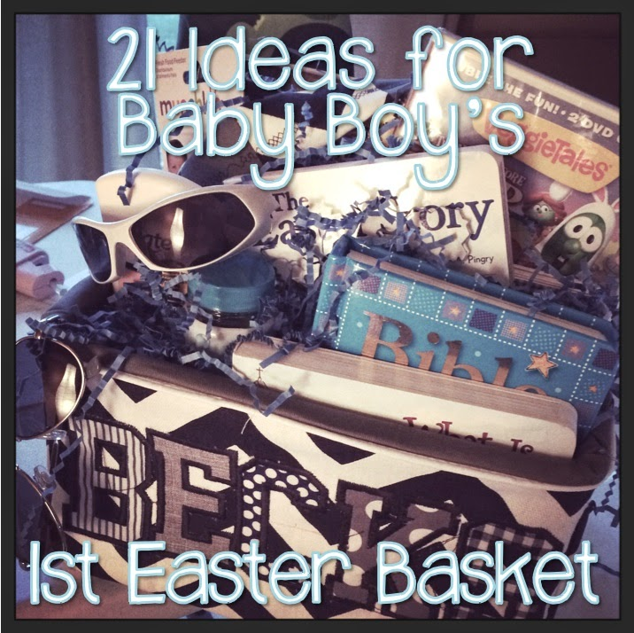 21 ideas for baby boys first easter basket hashtagteachermom obviously youre going to need a basket for your easter basket i made this one by using a cardboard box and creating my own cover for it negle Image collections