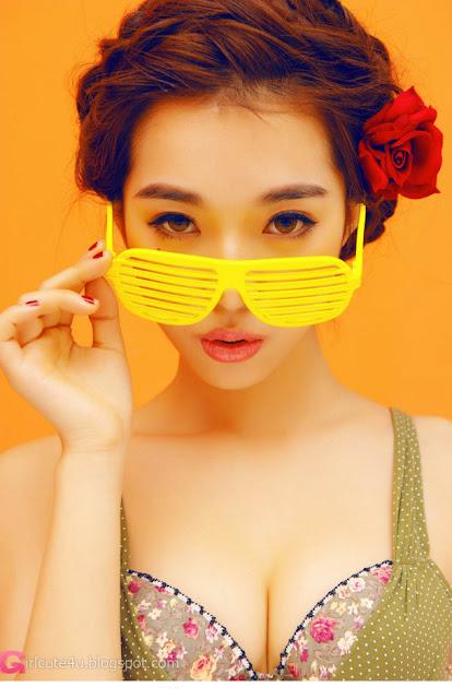 5 Orange color of sexy-Very cute asian girl - girlcute4u.blogspot.com