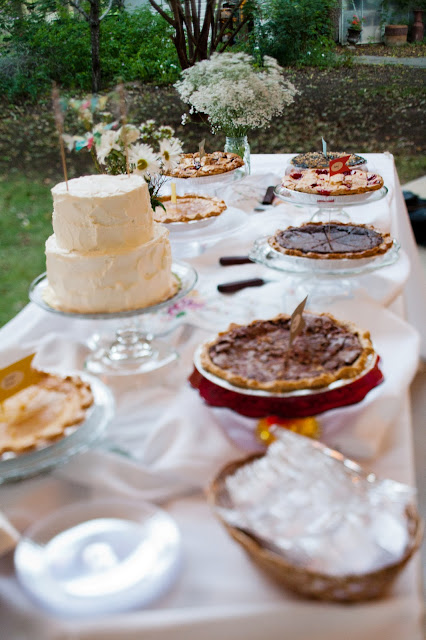 texas wedding dessert table