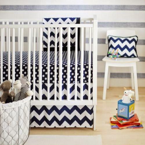 black and white chevron crib bedding