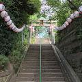 筑土八幡神社,鳥居,階段〈著作権フリー無料画像〉Free Stock Photos