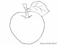 Lembar Mewarnai Gambar Buah Apel