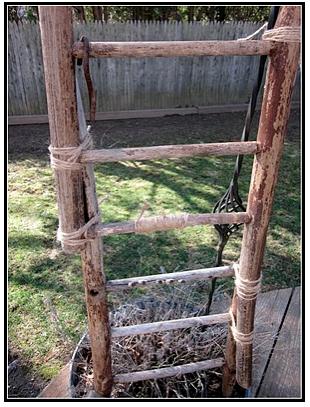 Old Broken Chair... Now a Ladder www.homeroad.net