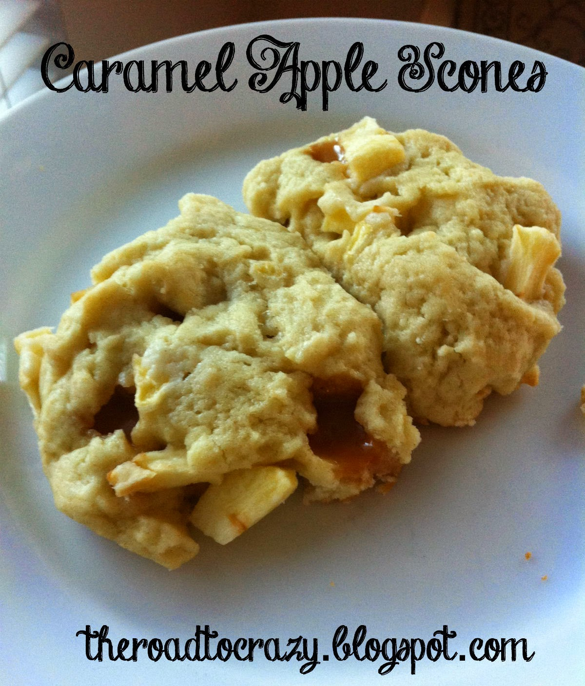 ... Road to Crazy: 31 Days of Halloween 2014 - Day 3: Caramel Apple Scones