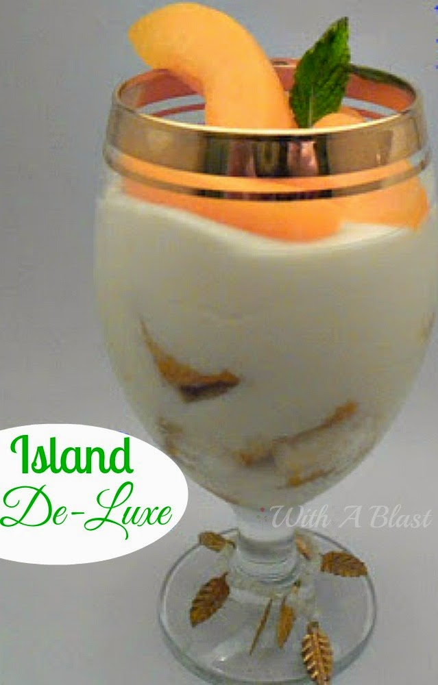 Island De-Luxe Dessert ~ Bring the Island to your table with this delicious Peach dessert #Dessert #PeachDessert #LayeredDessert