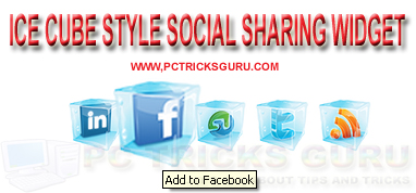 Ice Cube Style Social Sharing Widget For Blogger