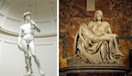 Art Talk - foredrag om kunst. Michelangelo: David, 1504, og Pietà, 1498-99