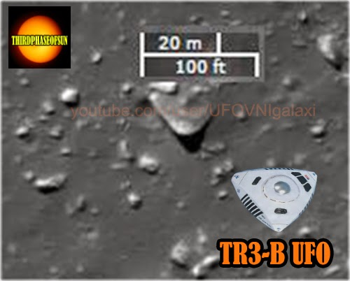 UFO OVNI EN LA LUNA