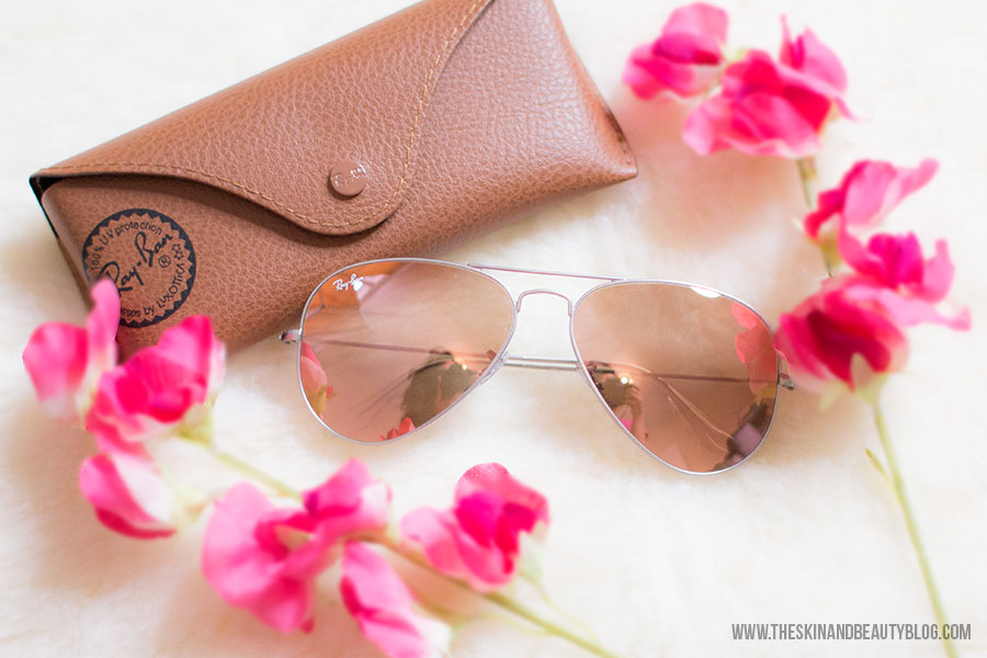Ray-Ban Pink Flash Aviator Sunglasses for women