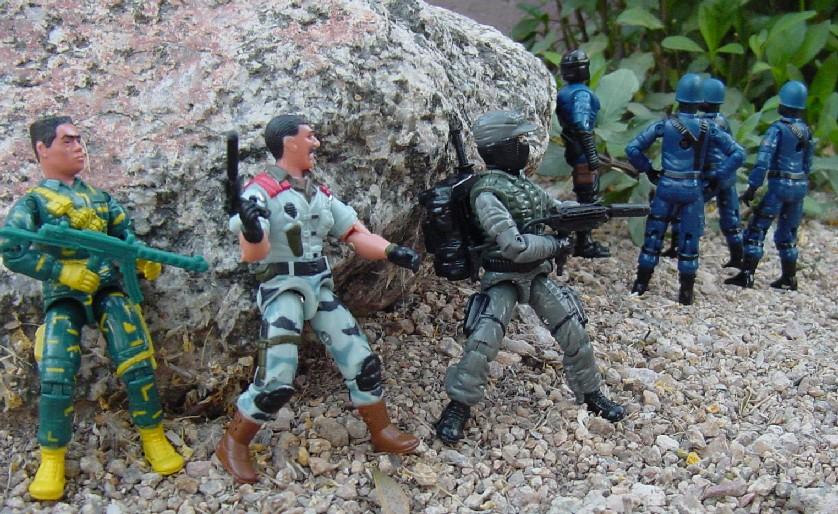 1989 Night Force Shockwave, TRU Exclusive, 2004 Unproduced Anti Venom Mutt, 2004 Cobra Trooper, Nullifier, Urban Assault, Flak Viper, Tiro Certo, Brazil, Estrela, Bulletproof