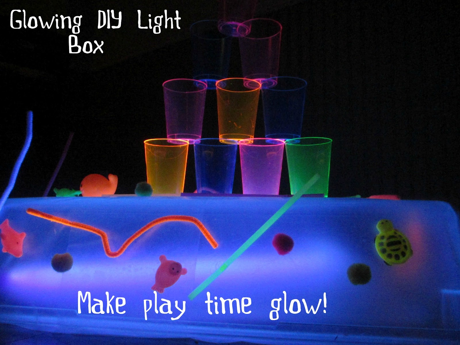 how to make a light table for preschool