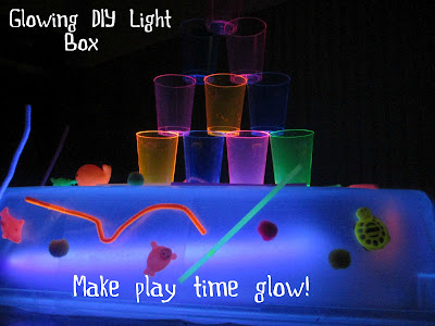 glowing blacklight play activities