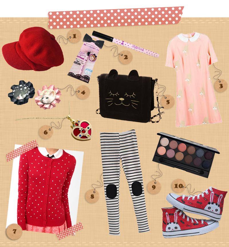 Romwe, Sasa, KLING, Paris Kids, Taobao, Kuma Crafts, Forever21, Sechuna and Sleek