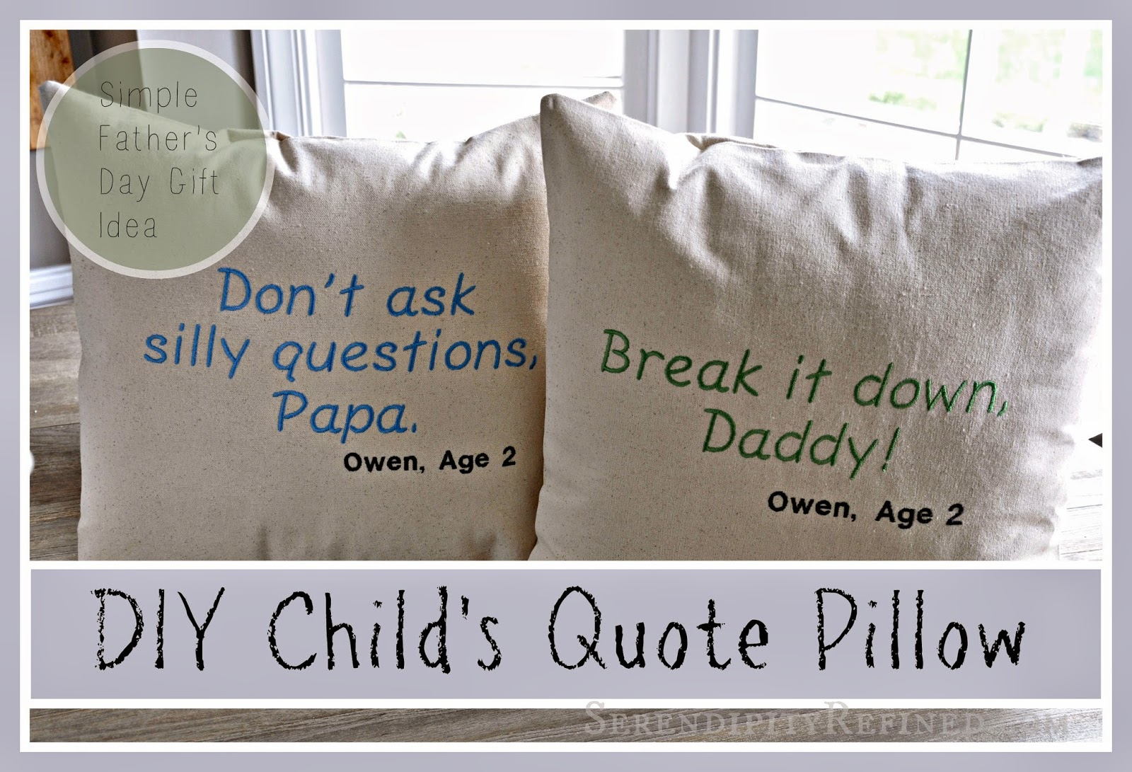 Superb Simple DIY Father us Day Gift Child us Quote Pillow
