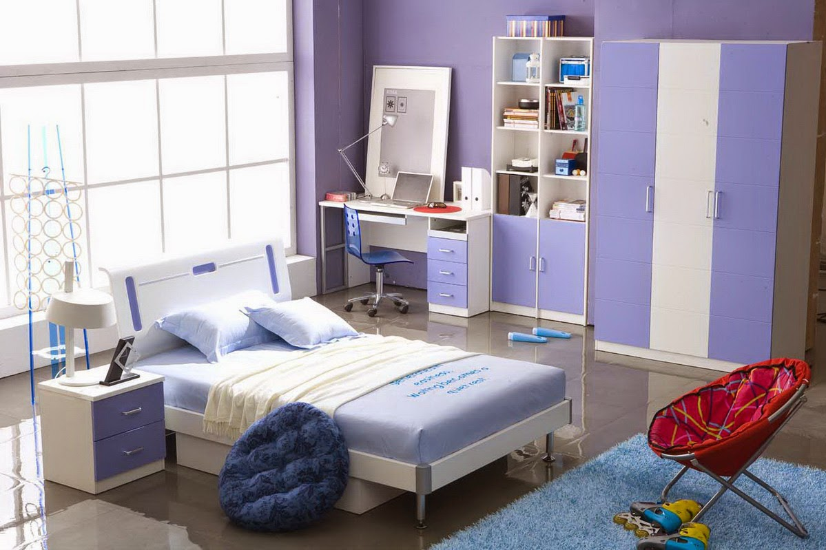 Decoration Moderne Chambre A Coucher : Blue Teenage Girls Bedroom Ideas