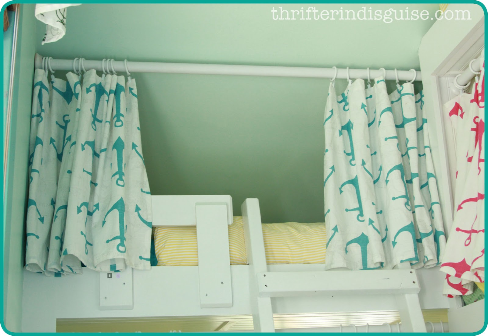 A Thrifter in Disguise EasySew DIY Bunk Bed Curtains