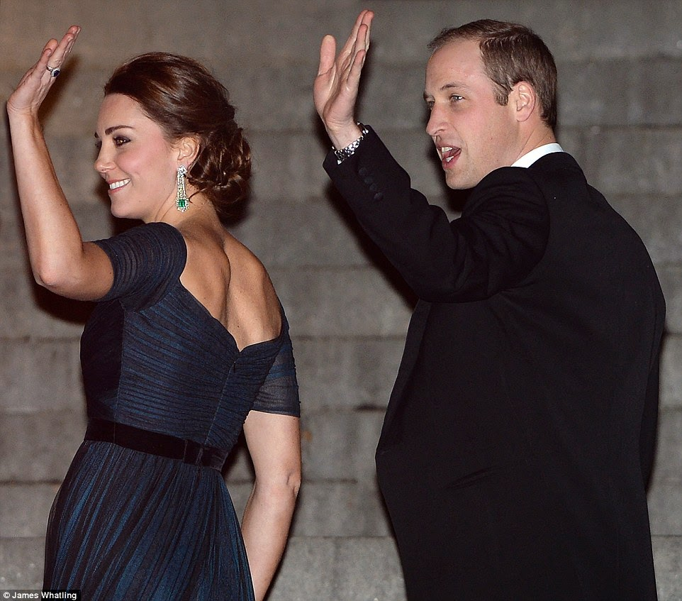 Kate Middleton dazzles in a blue gown at the St. Andrews University Fundraiser in New York
