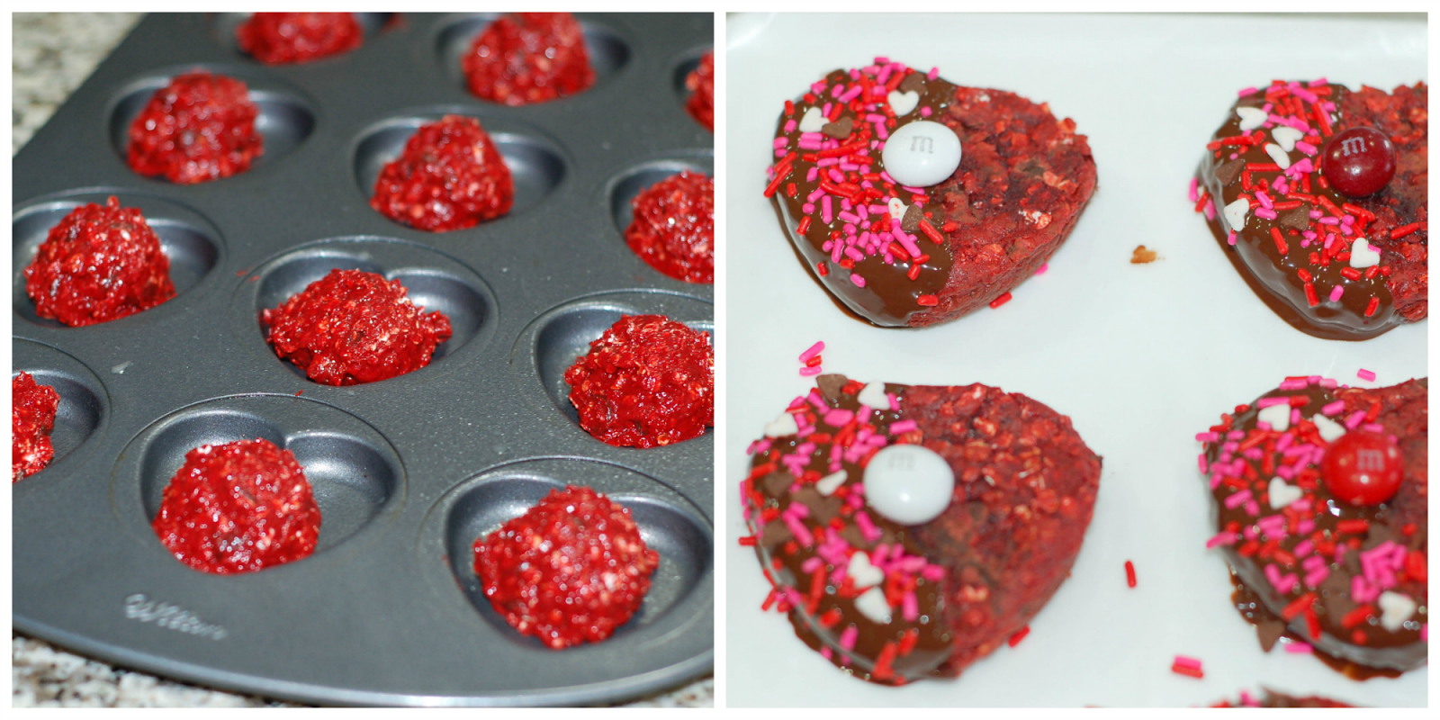 Heart Shaped Red Velvet Cookies by The Sweet Chick