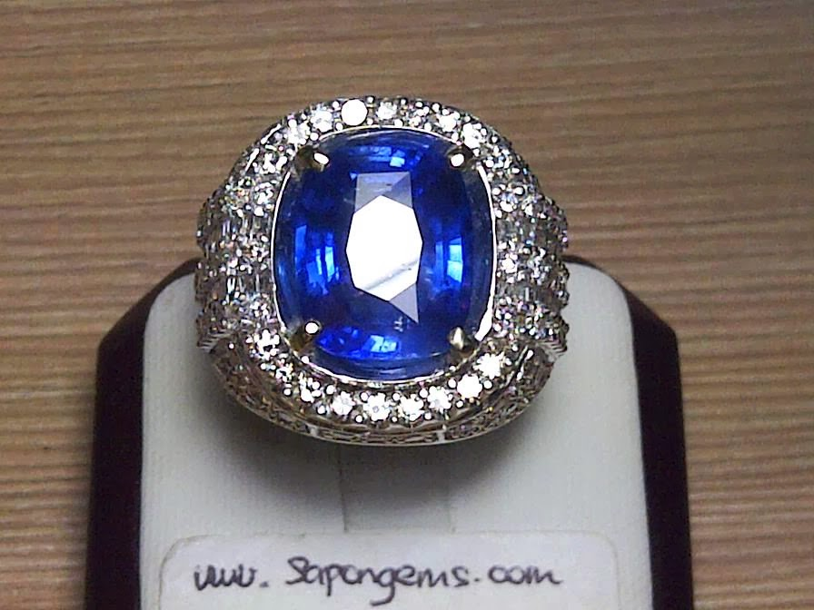 8,49ct NATURAL ROYAL BLUE SAPPHIRE GD Ring