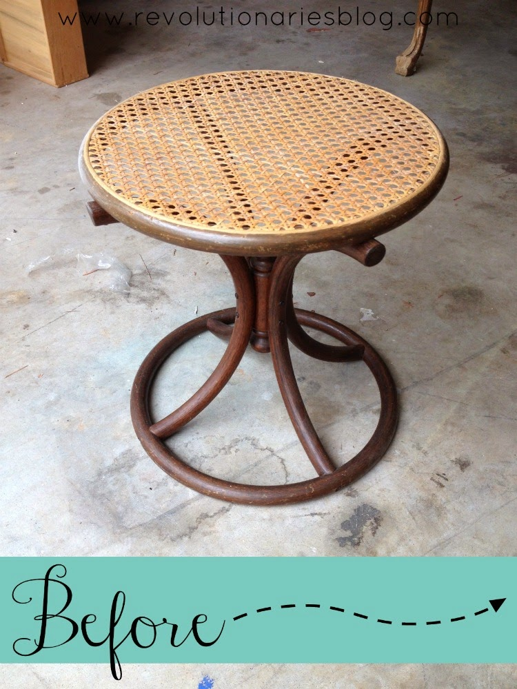Before and After: The Vintage Cane Tables