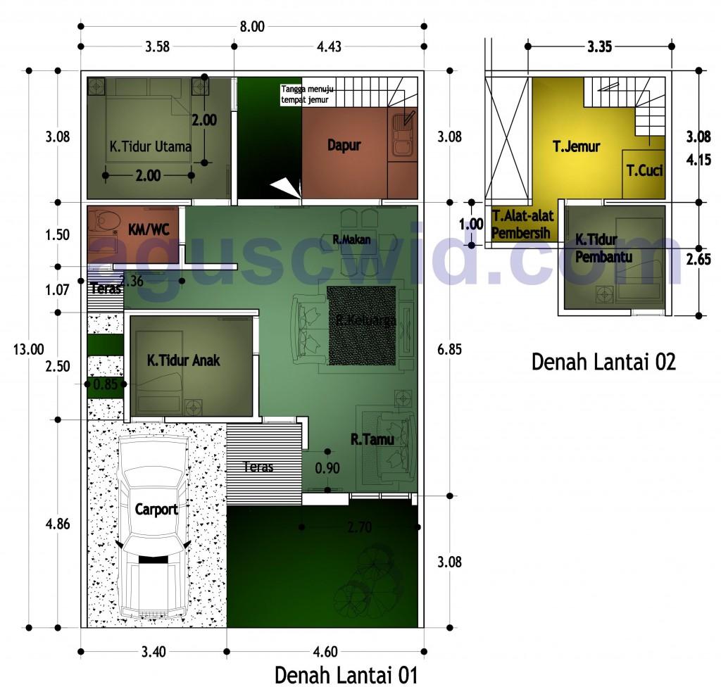 Gambar Model Rumah Sederhana Bentuk L Picture Rumah