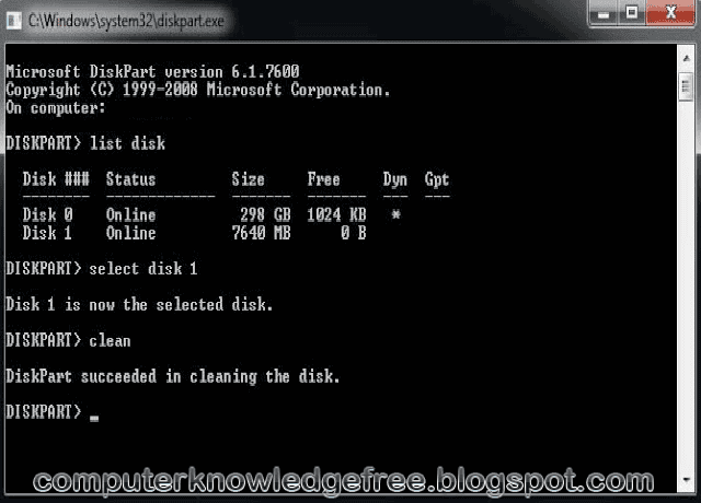 how to create partition using command prompt