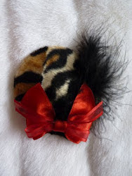 leopard faux fur fascinator