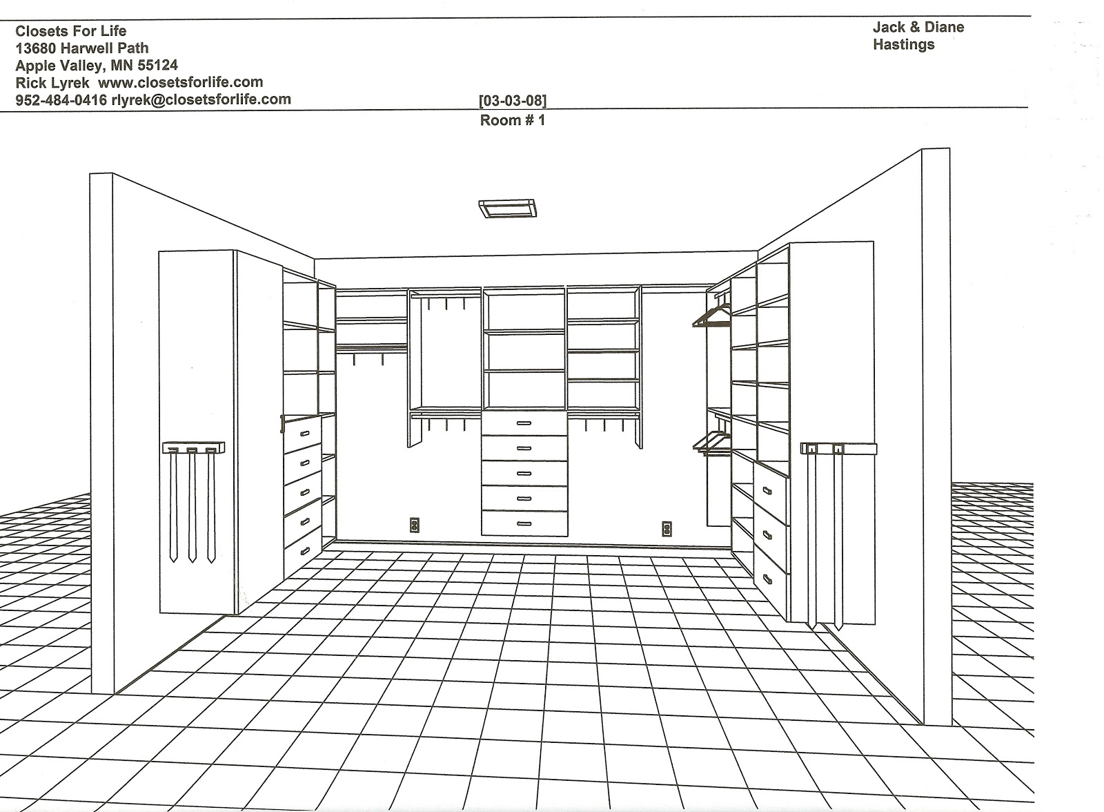 Closets for life sample 3d closet drawings for 3d bedroom drawing