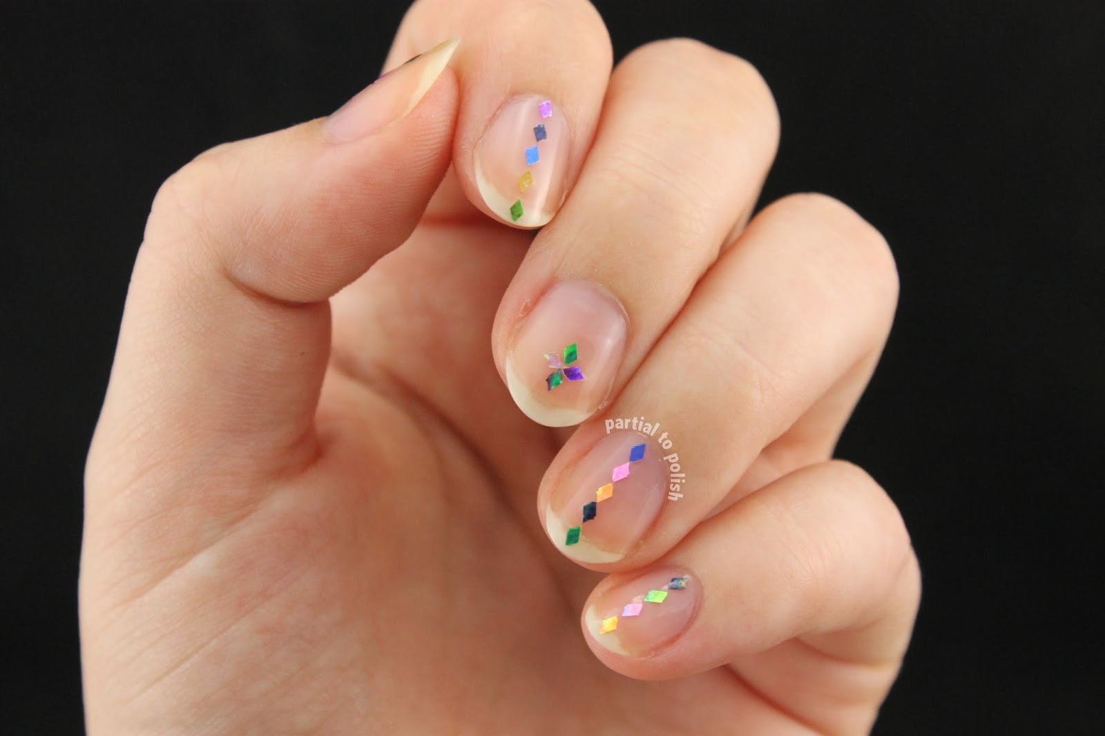 Partial to Polish: Negative Space (Naked) Holographic Diamond ...