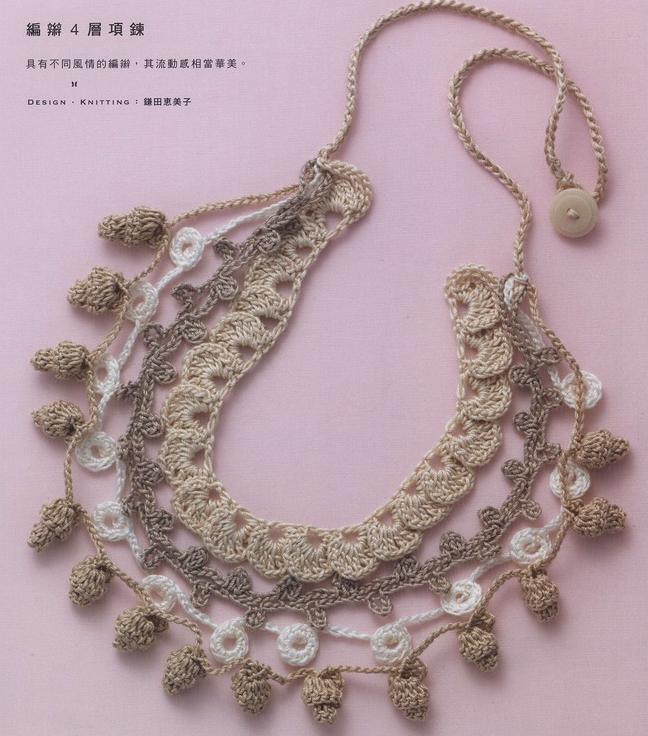 collares de crochet con encanto - Patrones Crochet