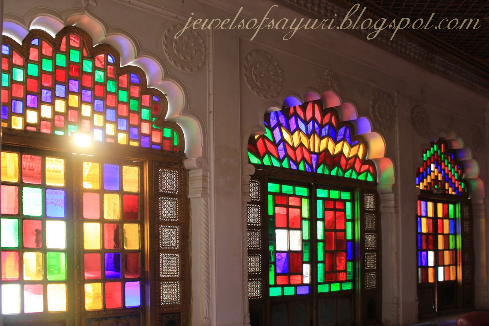 colored windows udaipur palace