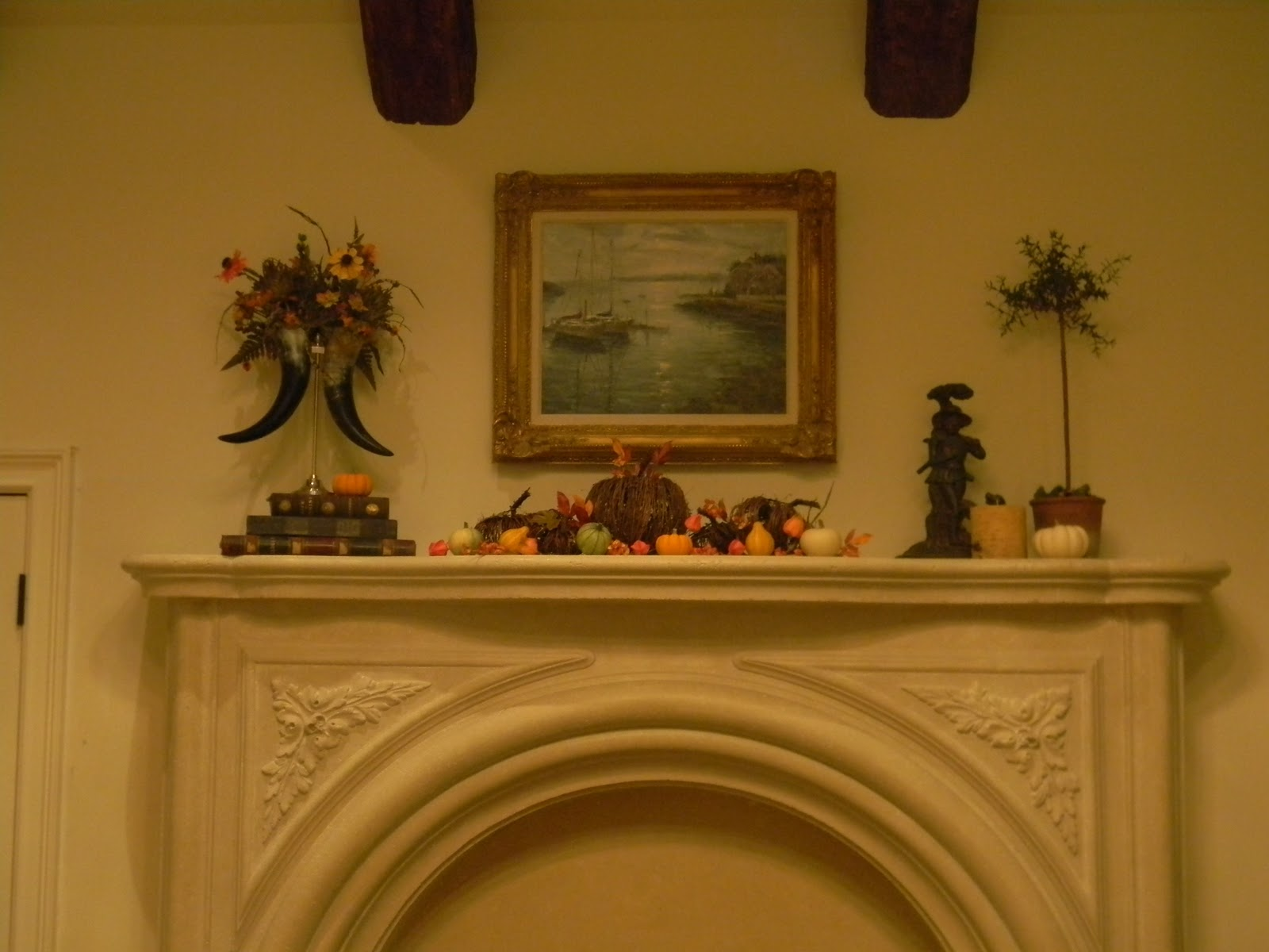 At least the living room mantle is done. Let's take a look. title=