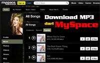 Cara Download Mp3 di MySpace