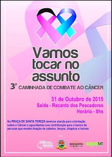 3ª caminhada de combate ao câncer em Teresópolis - Outubro Rosa e Novembro Azul