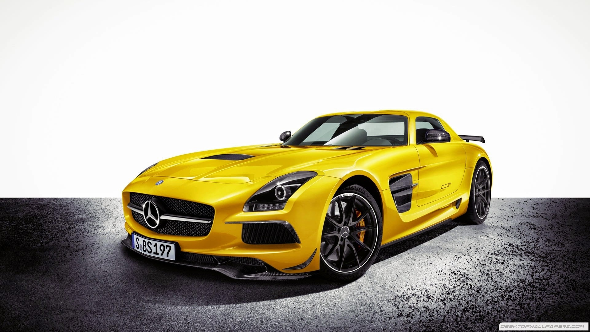 Yellow Sports Car Carbon Fiber Mercedes Benz Sls Amg Black Seriesjpg X